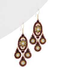 Miguel Ases - 14k Gold Filled Crystal Earrings - Lyst