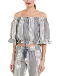 76d1671ab7 Surf Gypsy Geo Ombre Drape Sleeve Tube Top in Blue - Lyst