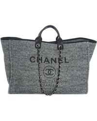Chanel - 2018 Limited Edition Blue Canvas Deauville Grande Shopper - Lyst