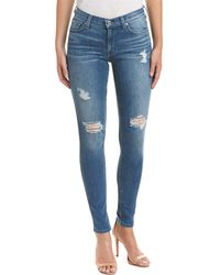 7 For All Mankind - 7 For All Mankind Gwenevere Destroyed Squiggle Ashland Clouds Skinny Leg - Lyst