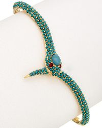 Noir Jewelry - 18k Plated Turquoise Hand Cuff - Lyst