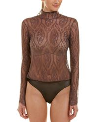 Skin Worldwide - Silk-trim Bodysuit - Lyst