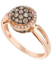 Le Vian - ® Chocolatier® 14k Rose Gold 0.52 Ct. Tw. Diamond Ring - Lyst