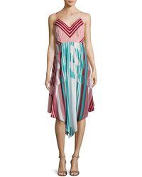 Plenty by Tracy Reese - Striped Scarf Dress - Lyst