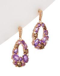 Effy - Fine Jewelry 14k Rose Gold 4.52 Ct. Tw. Diamond & Gemstone Drop Earrings - Lyst
