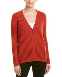 Lafayette 148 New York - Ribbed Cashmere Cardigan - Lyst