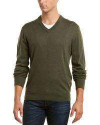 Qi - Wool V-neck Sweater - Lyst