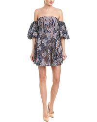 7c7b354619707 Elliatt Studio Strapless Dress in Purple - Lyst