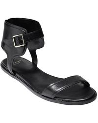 Cole Haan - Barra Ankle Wrap Leather Sandals - Lyst