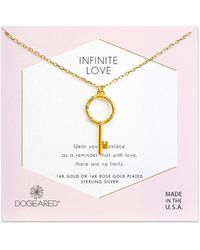 Dogeared - Infinite Love 14k Over Silver Crystal Necklace - Lyst
