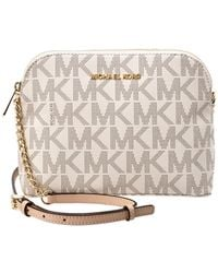 e7843b5cf1e044 Michael Kors - Cindy Large Dome Leather Crossbody - Lyst
