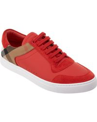 Burberry - Reeth House Check Low Top Sneaker - Lyst