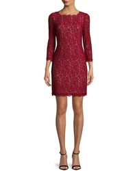 Adrianna Papell - Embroidered Lace Dress - Lyst
