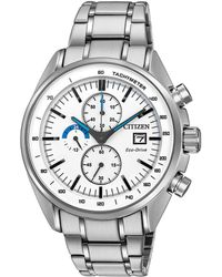Citizen - Men's Chronograph Eco-drive Stainless Steel Bracelet Watch 44mm Ca0590-82a - Lyst