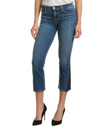 J Brand - Selena Mid-rise Cropped Bootcut Jean - Lyst