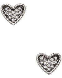 Marc By Marc Jacobs - Jewelry Heart Studs - Lyst
