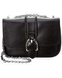 a7e8a63f8fd Lyst - Longchamp Balzane Leather Handbag in Black
