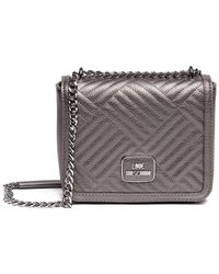 Love Moschino - Shiny Quilted Leather Clutch Bag - Lyst
