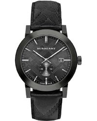 Burberry - Men's City Leather Watch - Lyst