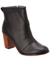 TOMS - Women's Lunata Leather Bootie - Lyst