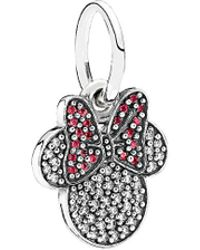 PANDORA - Disney Jewelry Collection Silver Sparkling Minnie Icon Charm - Lyst