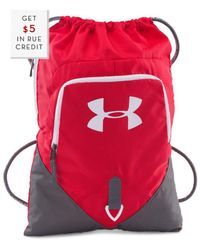 Under Armour - Undeniable Sackpack With $5 Rue Credit - Lyst