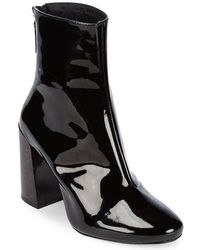 Pure Navy - Patent Leather Booties - Lyst