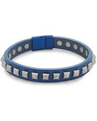Tateossian - Leather Pyramid Bracelet - Lyst