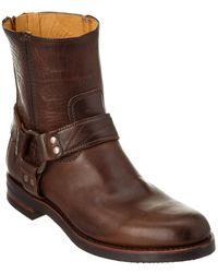 Frye - Men's Clinton Harness Backzip Leather Boot - Lyst