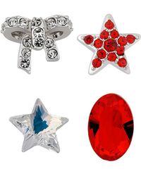 Swarovski - Crystal Treasure Plated Charms - Lyst