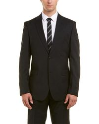 Versace Collection Wool Suit With Flat Front Pant