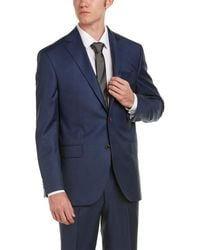 David Donahue - Ryan Classic Fit Wool Suit With Flat Pant - Lyst