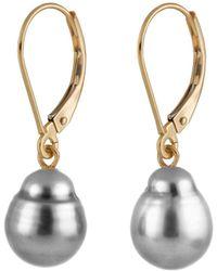 Splendid - 14k 9-10mm Tahitian Pearl Earrings - Lyst