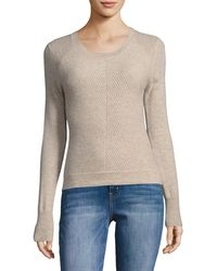 RAFFI - Cashmere Ribbed & Cable Knit Cashmere Jumper - Lyst