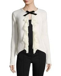 Manoush - Tie Neck Wool-blend Cardigan - Lyst