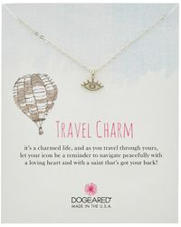 Dogeared - Travel Silver Eye Necklace - Lyst