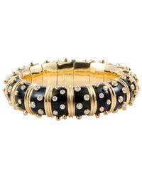 Heritage Tiffany & Co. Tiffany & Co. 18k Diamond & Onyx Bracelet - Metallic