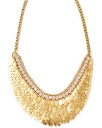 Deepa Gurnani - Feather & Crystal Statement Necklace - Lyst