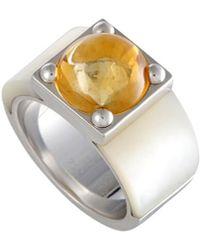 Heritage Van Cleef & Arpels - Van Cleef & Arpels 18k Citrine & Mother-of-pearl Ring - Lyst