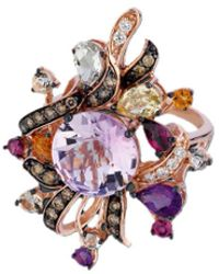 Le Vian - ? Crazy Collection? 14k Rose Gold 6.71 Ct. Tw. Diamond & Gemstone Ring - Lyst