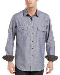 eedaabb8e3d Lyst - Robert Graham Flashlight Small Check Sport Shirt in Blue for Men
