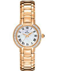 Bulova - Classic Round Diamond Accented Watch - Lyst