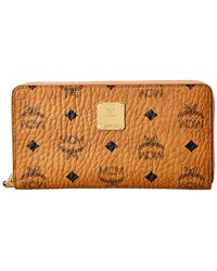 MCM - Visetos Zip Around Wallet - Lyst