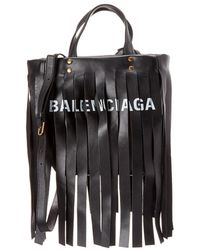 Balenciaga - Laundry Cabas Xs Fringe Leather Shopper Tote - Lyst
