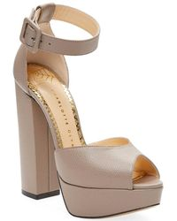 Charlotte Olympia - Eugenie Leather Platform Sandal - Lyst