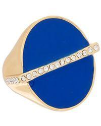 Trina Turk - Retro Mod 14k Plated Enamel Ring - Lyst