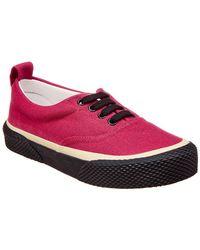 Céline - Lace-up Canvas Sneaker - Lyst