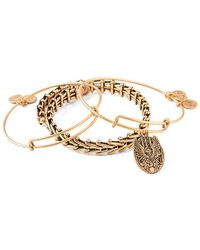 ALEX AND ANI - Set Of 3 Guardian Of Love Expandable Bracelets - Lyst