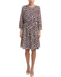 Nine West - Printed 3/4 Length Sleeve Dress - Lyst