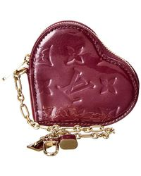 e05f43fbd344 Louis Vuitton - Limited Edition Purple Monogram Vernis Leather Heart Coin  Purse - Lyst